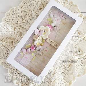 wesele scrapbooking kartki kartka ślubna z motylkami