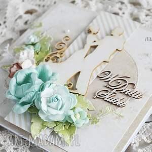 beżowe scrapbooking kartki ślub kartka ślubna w pudełku,