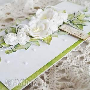 białe scrapbooking kartki wesele kartka ślubna w pudełku, 454