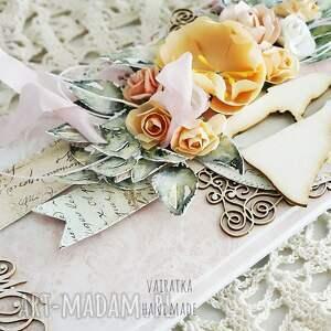 turkusowe scrapbooking kartki wesele kartka ślubna w pudełku, 637