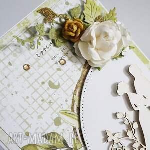 ślub scrapbooking kartki białe kartka ślubna w pudełku, 451