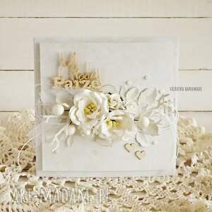 scrapbooking kartki ślub kartka ślubna w bieli, z pudełkiem