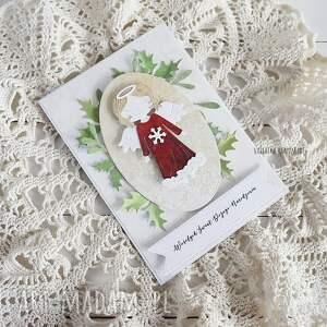 pomysł na prezent świąteczny kartka-świąteczna kartka świąteczna z aniołkiem, 541