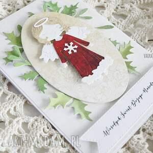 pomysł na prezent świąteczny kartka świąteczna z aniołkiem, 541