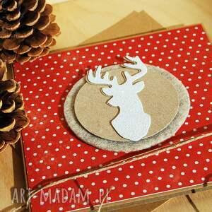 prezent kartka świąteczna