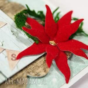 święta prezent czerwone kartka świąteczna