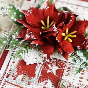 pomysł na upominek na święta czerwone kartka świąteczna (w