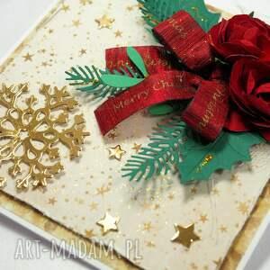 świąteczny prezent czerwone kartka świąteczna