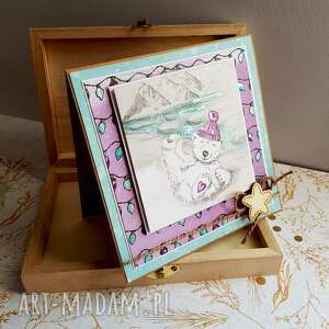 świąteczny prezent fioletowe kartka