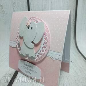 scrapbooking kartki słonik kartka szczęście od słonika