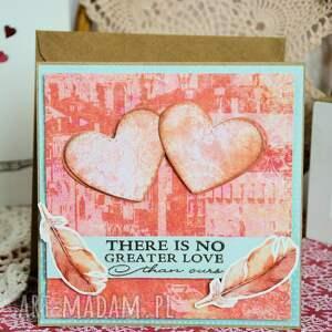 kartka scrapbooking kartki brązowe - there is no greater love