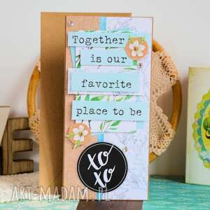 scrapbooking kartki: Kartka - Together is our favorite place to be - rocznica eko