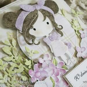 oryginalne scrapbooking kartki kartka urodzinowa dla dziewczynki