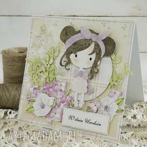 różowe scrapbooking kartki kartka urodzinowa dla dziewczynki