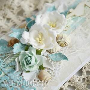 białe scrapbooking kartki kartka-urodzinowa kartka urodzinowa - z morskim