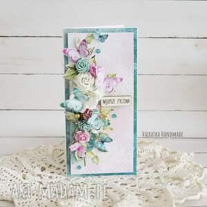 handmade kartka urodzinowa z motylami, 489