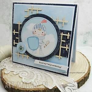 scrapbooking kartki niebieskie kartka urodzinowa dla maluszka