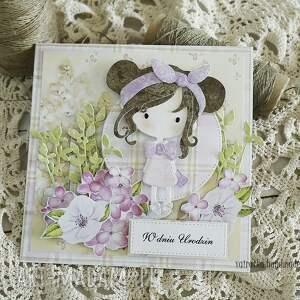 scrapbooking kartki dziecko kartka urodzinowa dla dziewczynki
