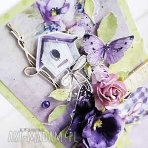 urodziny scrapbooking kartki fioletowe kartka urodzinowa/imieninowa, 545