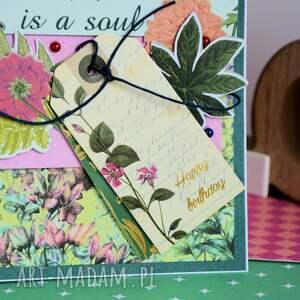 zielone scrapbooking kartki kartka urodzinowa - happy birthday