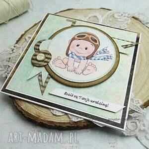 eleganckie scrapbooking kartki kartka urodzinowa dla maluszka