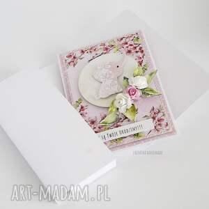 beżowe scrapbooking kartki urodziny kartka urodzinowa ze słonikiem, 464