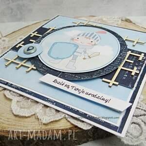 turkusowe scrapbooking kartki urodziny kartka urodzinowa dla maluszka