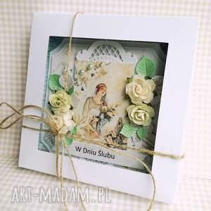 oryginalne scrapbooking kartki kartka-w-pudełku kartka w pudełku dniu ślubu