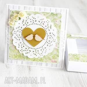 scrapbooking kartki kartka w pudełku na ślub