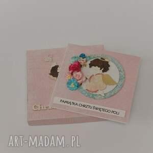 chrzest scrapbooking kartki kartka w pudełku święty