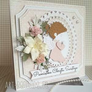 handmade scrapbooking kartki chrzest-święty kartka w pudełku chrzest święty