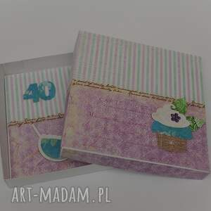 scrapbooking kartki kartka w pudełku urodziny