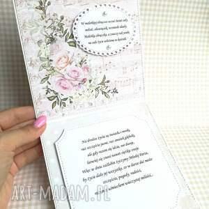 różowe scrapbooking kartki prezent kartka w pudełku w dniu