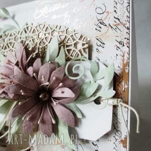białe scrapbooking kartki rocznica kartka w pudełku z ozdobnym szyldem