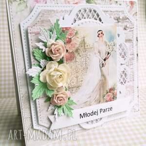 hand made scrapbooking kartki ślub kartka w pudełku w dniu