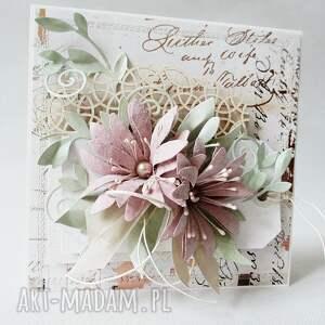 ręcznie wykonane scrapbooking kartki ślub kartka w pudełku z ozdobnym szyldem