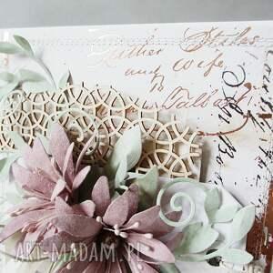 scrapbooking kartki ślub kartka w pudełku z ozdobnym szyldem