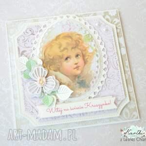 oryginalne scrapbooking kartki dziecko kartka witaj na świecie kruszynko