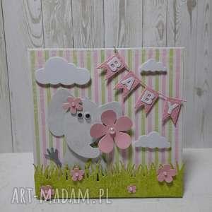 białe scrapbooking kartki narodziny kartka z gratulacjami dla maluszka