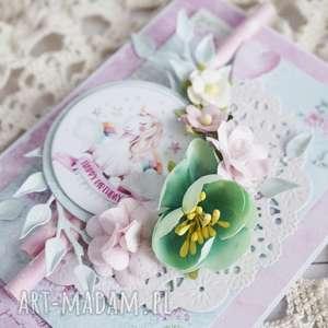 eleganckie scrapbooking kartki jednorożec kartka z jednorożcem