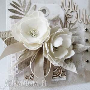 gratulacje scrapbooking kartki kartka z kwiatami - w pudełku