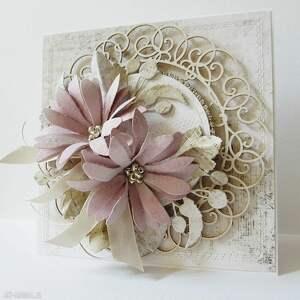 złote scrapbooking kartki rocznica kartka z kwiatami w pudełku