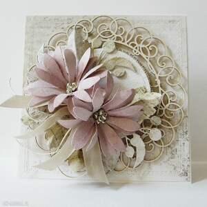 frapujące scrapbooking kartki ślub kartka z kwiatami w pudełku