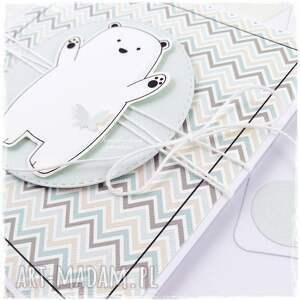 białe scrapbooking kartki dziecko projekt autorski. śliczna kartka