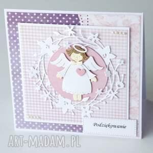 fioletowe scrapbooking kartki chrzest kartka z okazji chrztu św. -
