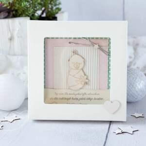 ręcznie robione gratulacje kartka z okazji narodzin, chrztu