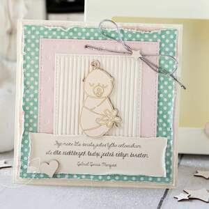 różowe pamiątka chrztu kartka z okazji narodzin