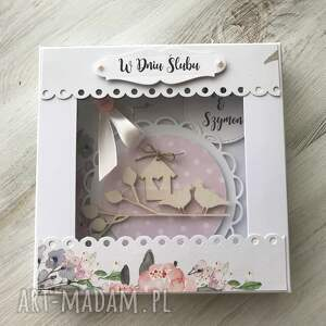 kartka scrapbooking kartki szare z okazji ślubu ( w