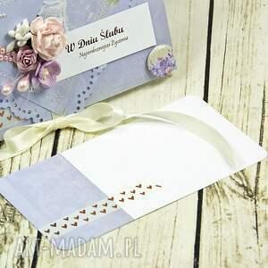 handmade scrapbooking kartki ślubna kartka z okazji ślubu - liliowe