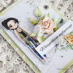 scrapbooking kartki kartka z życzeniami, w pudełku, 562